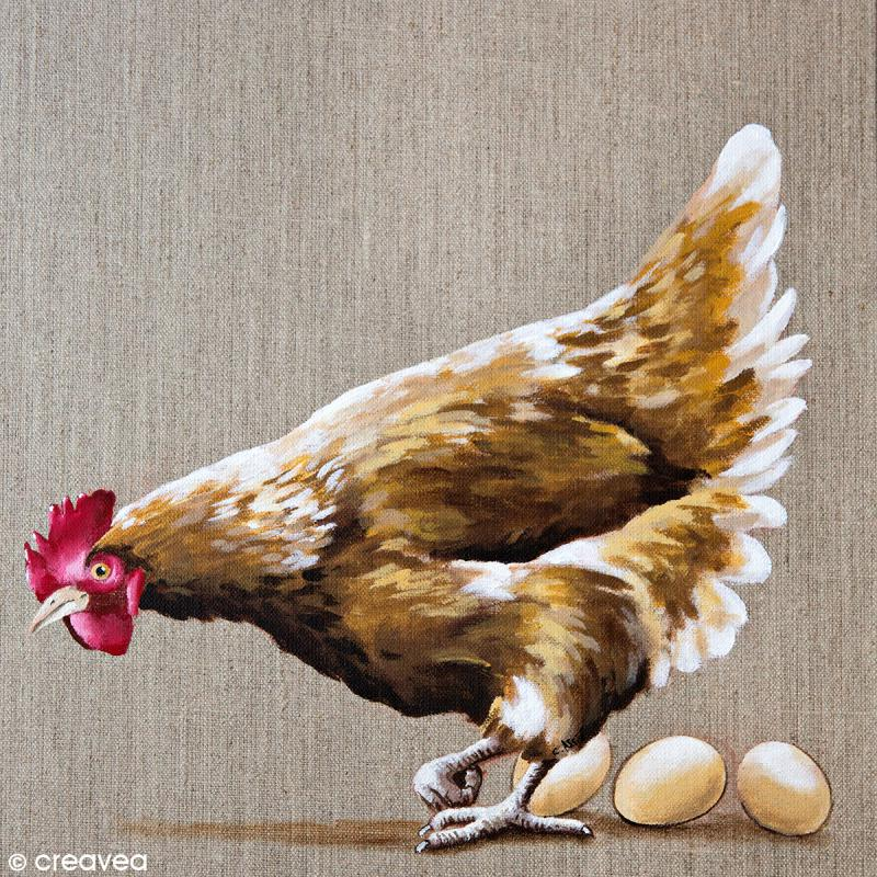 Image 3D Animaux - Poule - 30 x 30 cm - Photo n°1