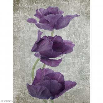 Image 3D Fleur - Coquelicot violet - 30 x 40 cm