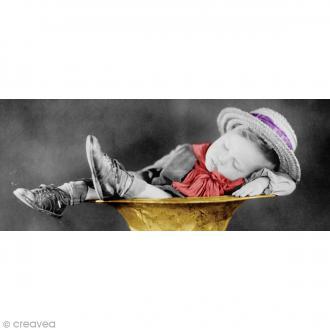 Image 3D Enfant - Garçon endormi vintage - 20 x 50 cm