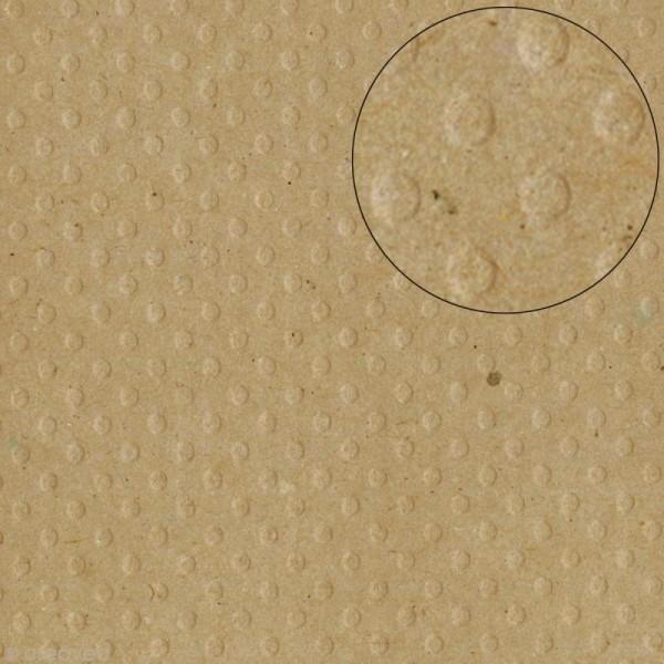 Papier scrapbooking Bazzill 30 x 30 cm - Pois - Kraft (marron) - Photo n°1