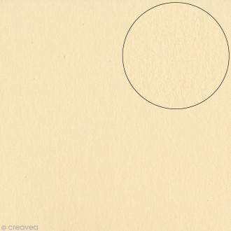 Papier scrapbooking Bazzill 30 x 30 cm - Lisse - Smoothies Pigments (beige craie)