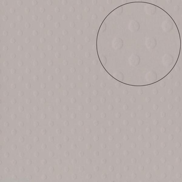 Papier scrapbooking Bazzill 30 x 30 cm - Pois - Front Porch (gris) - Photo n°1