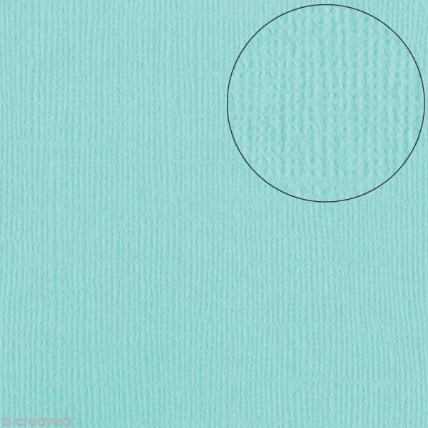 Papier scrapbooking Bazzill 30 x 30 cm - Texture - Aruba ( bleu vert) - Photo n°1