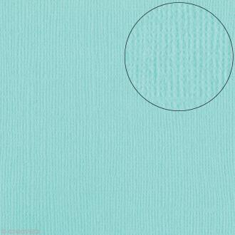 Papier scrapbooking Bazzill 30 x 30 cm - Texture - Aruba ( bleu vert)