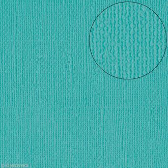 Papier scrapbooking Bazzill 30 x 30 cm - Texture - Capri Sea (bleu mer Capri)