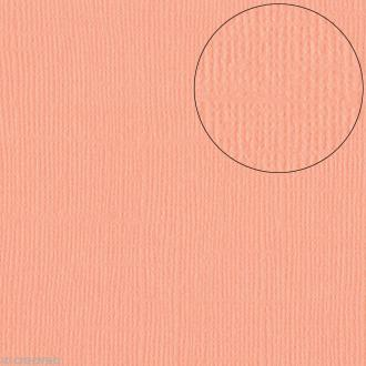 Papier scrapbooking Bazzill 30 x 30 cm - Texture - Coral Cream (orange corail)