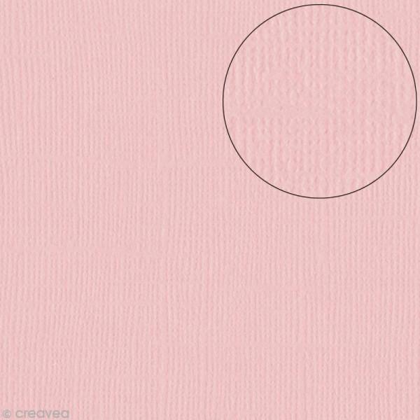 Papier scrapbooking Bazzill 30 x 30 cm - Texture - Quartz (rose pierre) - Photo n°1