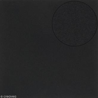 Papier scrapbooking Bazzill 30 x 30 cm - Mousse Adhésive - Noir