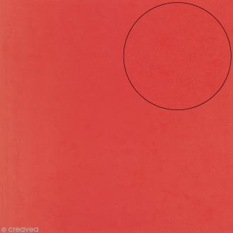 Papier scrapbooking Bazzill 30 x 30 cm - Mousse Adhésive - Rouge
