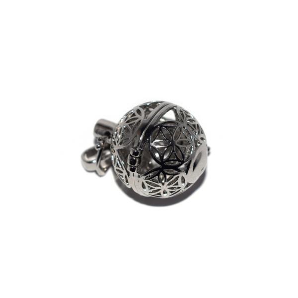 Pendentif cage motifs mandala pour bola de grossesse argenté - Photo n°1