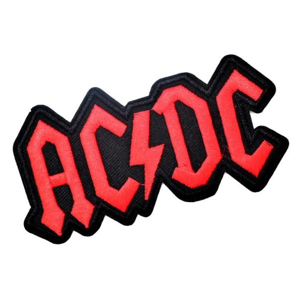Ecusson brodé AC/DC patch thermocollant hard rock 9,8 cm - Photo n°2