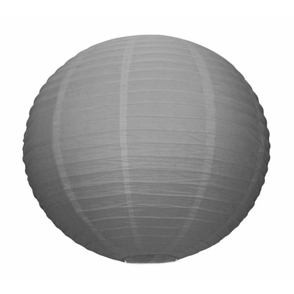 grande lanterne japonaise grise lampion boule papier 50. Black Bedroom Furniture Sets. Home Design Ideas