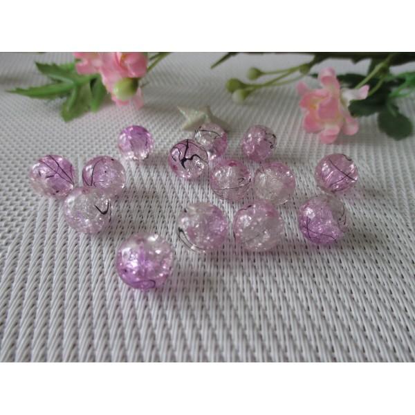 lot 10 perles rondelle 6 x 8 mm en cristal violet prune.