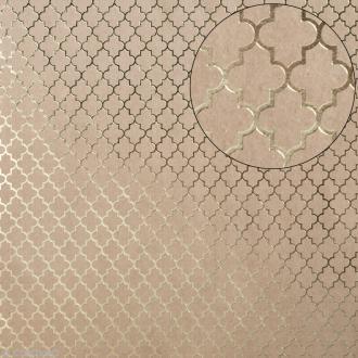 Papier scrapbooking Bazzill 30 x 30 cm - Kraft métallisé - Motif arabesque