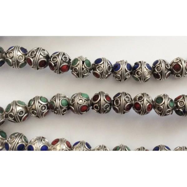 4f360a1e31b 10 Perles Rondes à Facettes - Perle métal - Creavea