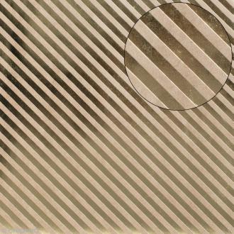 Papier scrapbooking Bazzill 30 x 30 cm - Kraft métallisé - Rayures