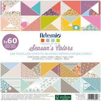 Papier Scrapbooking Artemio - Season's Color - 30,5 x 30,5 cm - 180 feuilles