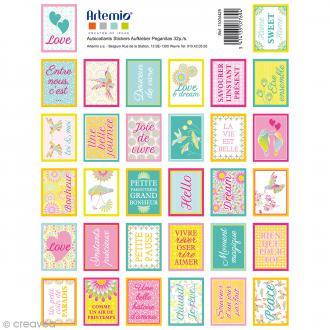 Stickers timbre décoratif - Freedom - 3,3 x 2,7 cm - 64 pcs