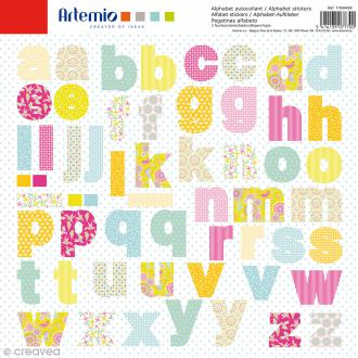 Stickers Alphabet Artemio - Freedom - 2 planches de 30,5 x 30,5 cm - 100 pcs