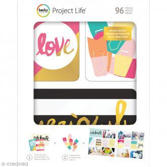 Kit cartes et embellissements Project Life - Mix & Match