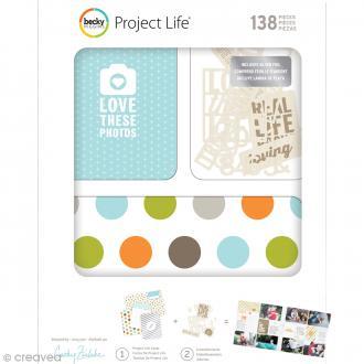 Kit cartes et embellissements Project Life - Cathy Zielske
