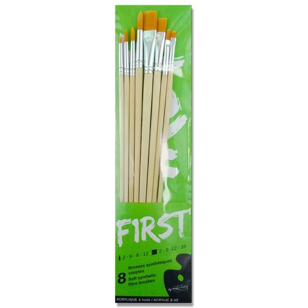 Pochette First 8 pinceaux fibre synthétique - Photo n°1