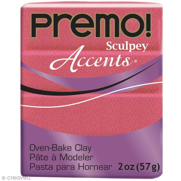 Pâte Sculpey Accents Rose Pearl sunset - 57 g - Photo n°1