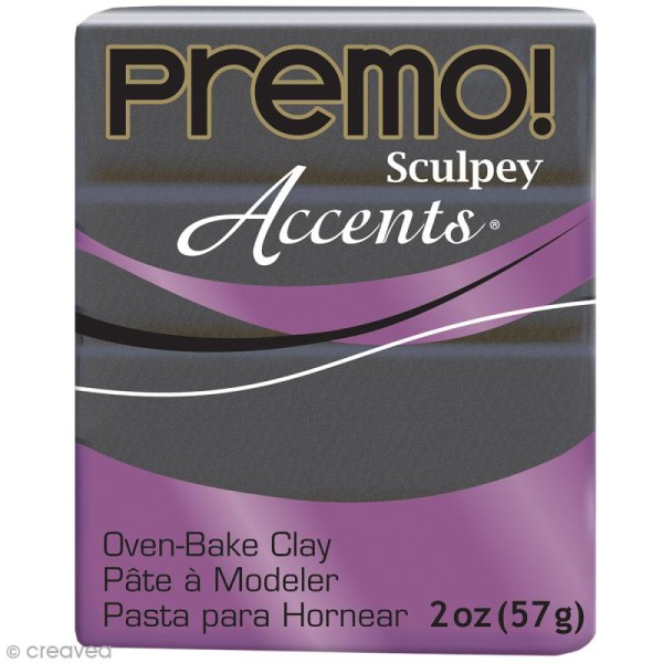 Pâte Sculpey Accents Violet Graphite Pearl - 57 g - Photo n°1