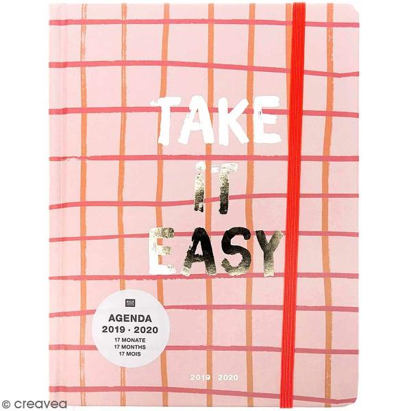 Petit agenda 2019 / 2020 - Take it easy Rose - 17 mois - Photo n°1