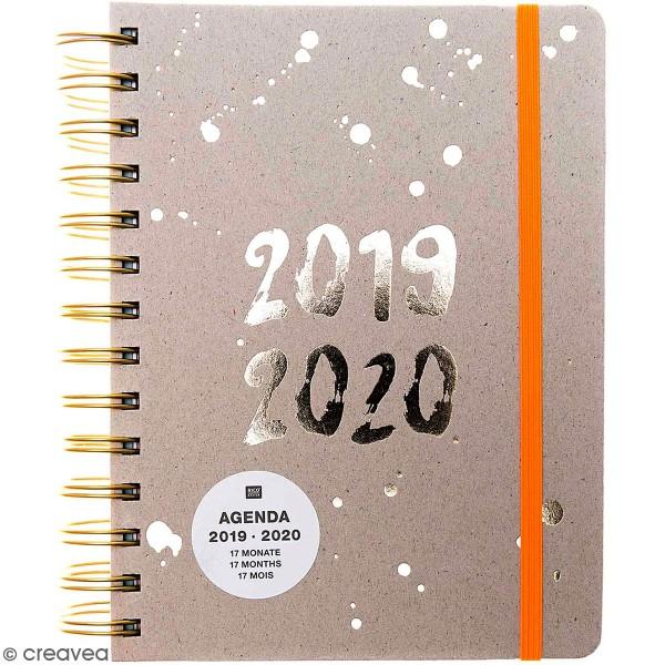 Petit agenda 2019 / 2020 - Gris - 17 mois - Photo n°1