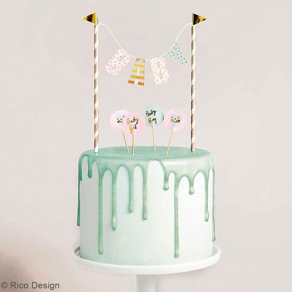 Décoration de gâteau - Bébé Garçon/fille - 6 pcs - Photo n°2