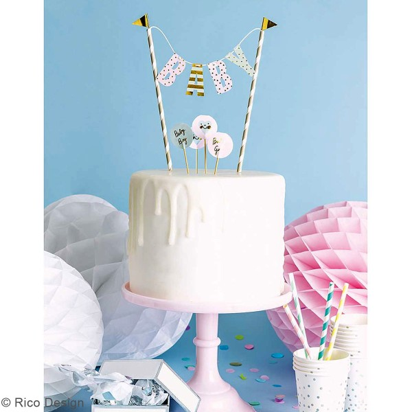 Décoration de gâteau - Bébé Garçon/fille - 6 pcs - Photo n°3