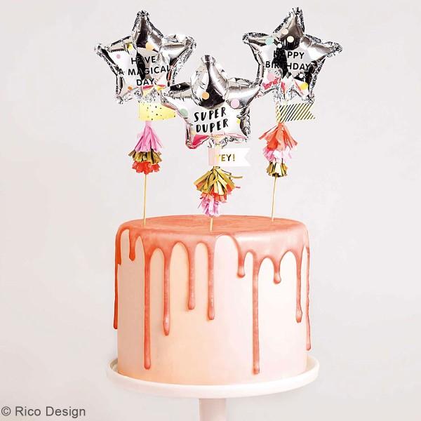 Décoration de gâteau - Anniversaire - 6 pcs - Photo n°2