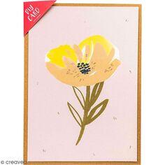 Kit carte à personnaliser - Rico Design Nature - Rose - 12,5 x 17,5 cm