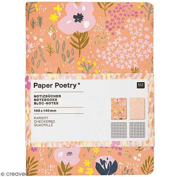 Petits carnets de notes A6 - Nature - Rose - 10,5 x 14 cm - 2 pcs - Photo n°1