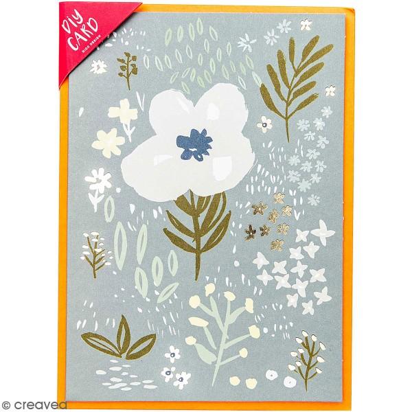 Kit carte à personnaliser - Rico Design Nature - Bleu - 12,5 x 17,5 cm - Photo n°1
