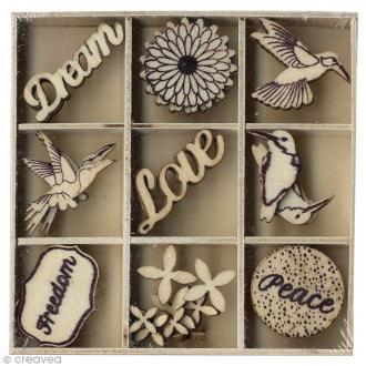 Set de mini silhouettes en bois - Freedom - 27 pcs