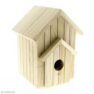 Nichoir en bois à décorer - 20 x 15 x 13 cm
