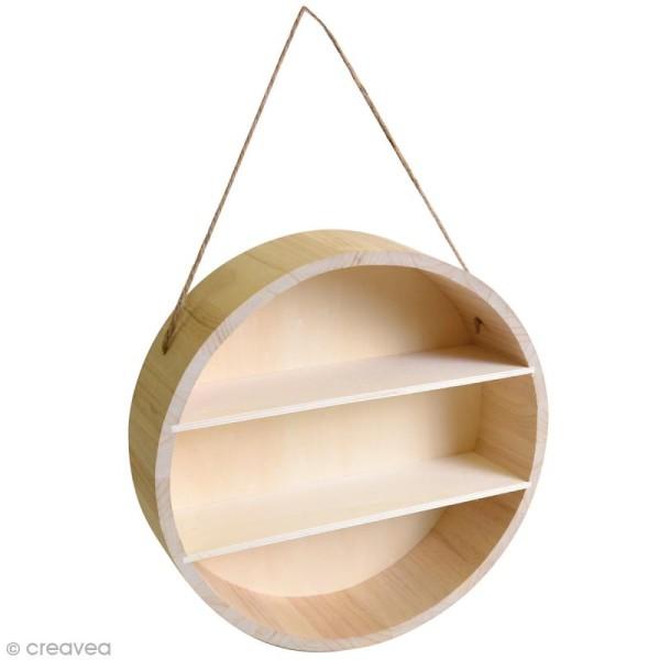 Etagère ronde en Bois à décorer - 30 x 8 cm - Photo n°1