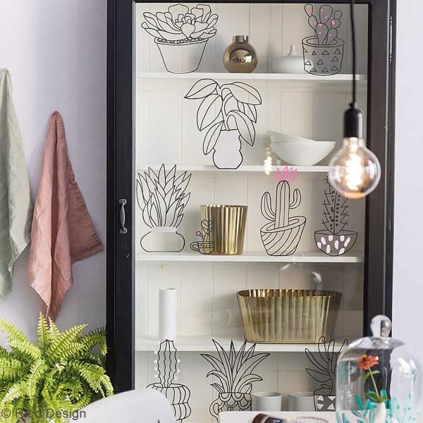 Modèles pour décoration de surfaces vitrées - Hygge - 60 x 86 cm - 3 designs - Photo n°2