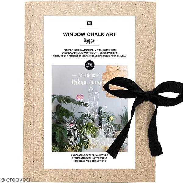 Modèles pour décoration de surfaces vitrées - Hygge - 60 x 86 cm - 3 designs - Photo n°1