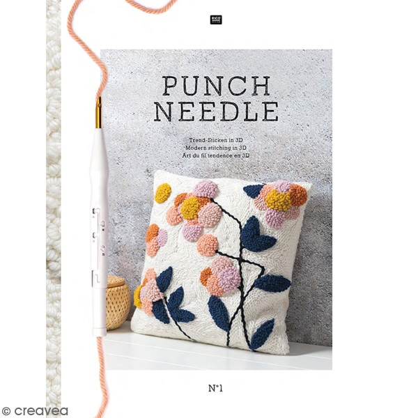 Livre Punch Needle N 1 - Art du fil tendance en 3D - Photo n°1