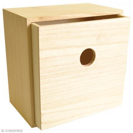 tiroir vide poches en bois d corer 22 cm meuble d corer creavea. Black Bedroom Furniture Sets. Home Design Ideas