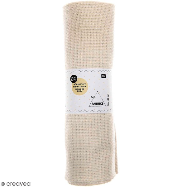 Toile à Broder - Moine de tissu Rico Design - 50 x 140 cm - Photo n°1