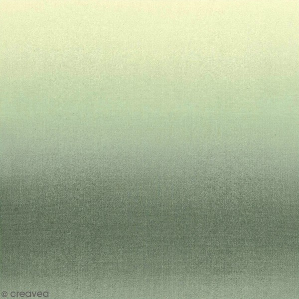 Coupon de tissu Toile coton - Dégradé bleu - 50 x 140 cm - Photo n°1