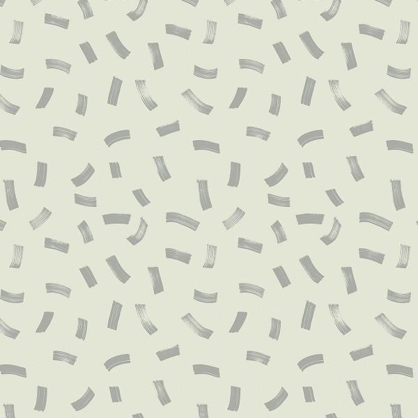 Tissu Molleton sweat à la coupe - Traits Métallisés sur fond Bleu gris - Par 10 cm - Photo n°1