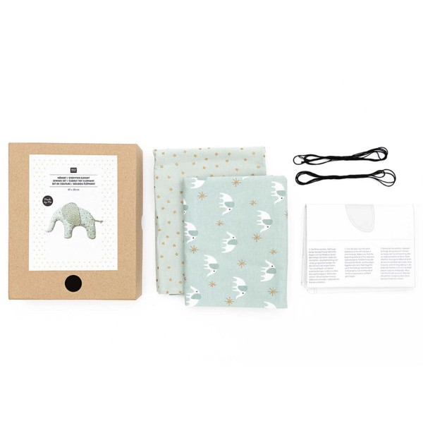Kit couture Rico Design - Doudou Elephant - 47 x 28 cm - Photo n°3