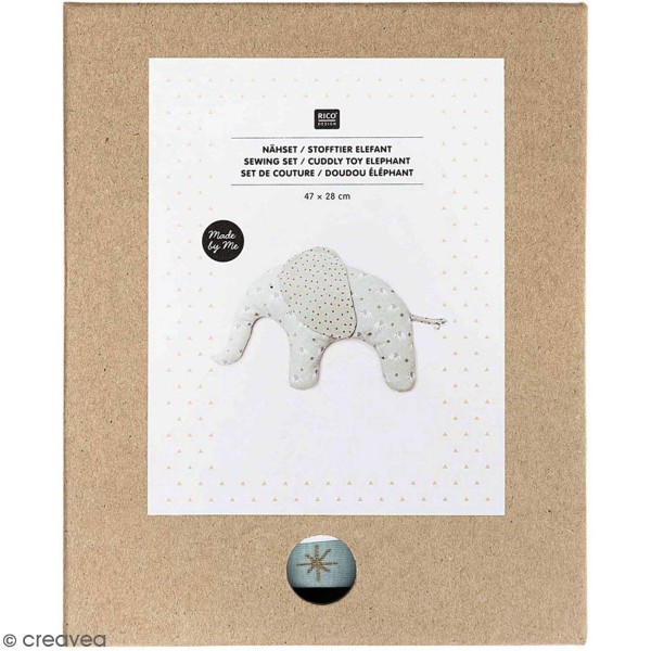 Kit couture Rico Design - Doudou Elephant - 47 x 28 cm - Photo n°1