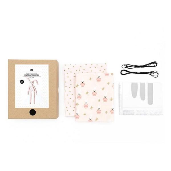 Kit couture Rico Design - Doudou Lapin - 25 x 72 cm - Photo n°3