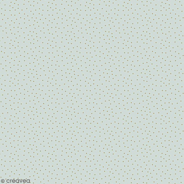 Coupon de tissu jersey - Petites étoiles détails Métallisés - Fond Bleu gris - 70 x 100 cm - Photo n°1